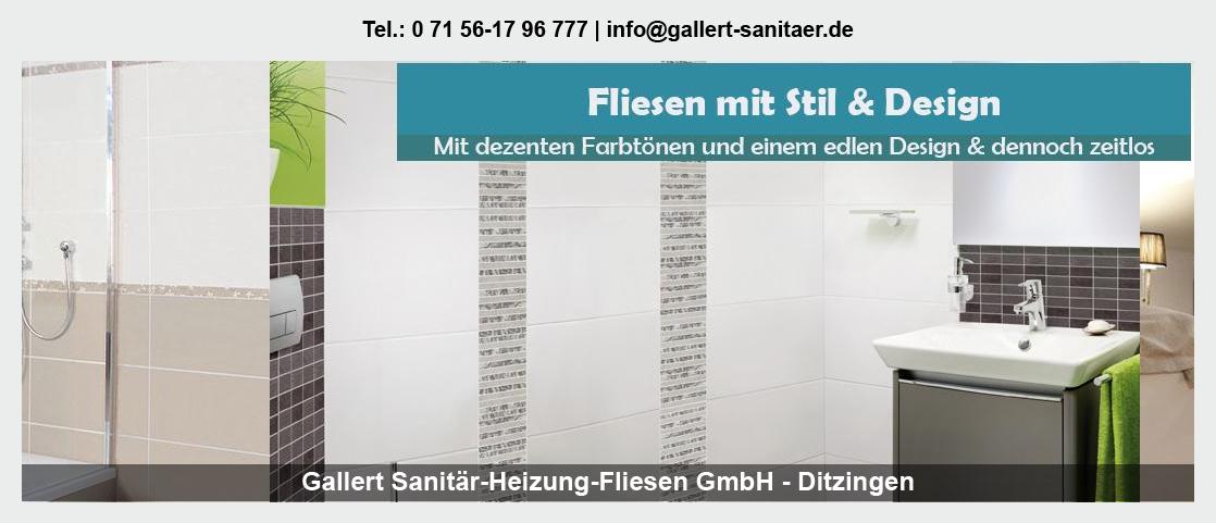 Sanitär für Gundelsheim - Gallert Sanitär-Heizung-Fliesen GmbH: Heizung, Fliesen