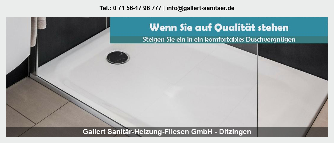 Sanitär für Unterensingen - Gallert Sanitär-Heizung-Fliesen GmbH: Heizung, Rohrinstallationen