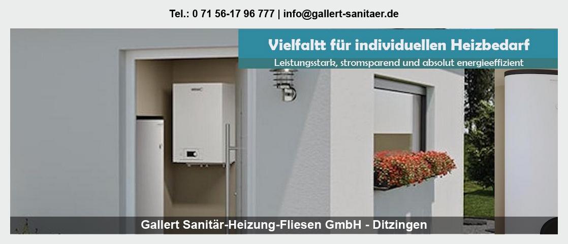 Sanitär Jungingen - Gallert Sanitär-Heizung-Fliesen GmbH: Heizung, Trinkwasser