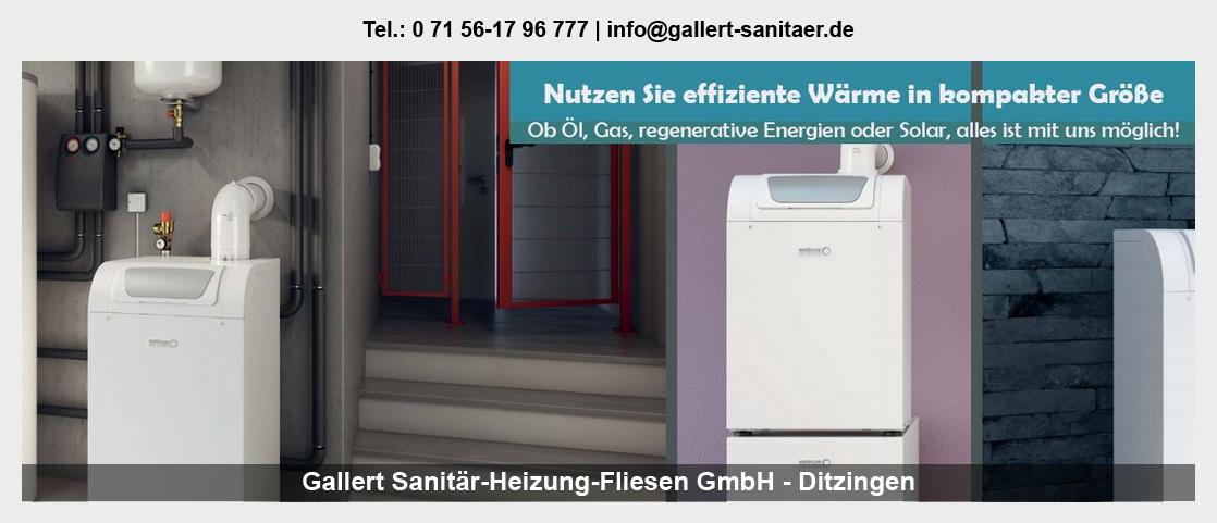 Sanitär für Täferrot - Gallert Sanitär-Heizung-Fliesen GmbH: Heizung, Trinkwasser