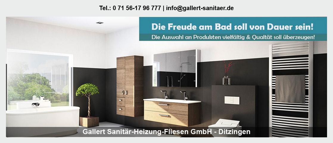 Sanitär für Benningen (Neckar) - Gallert Sanitär-Heizung-Fliesen GmbH: Heizung, Fliesen